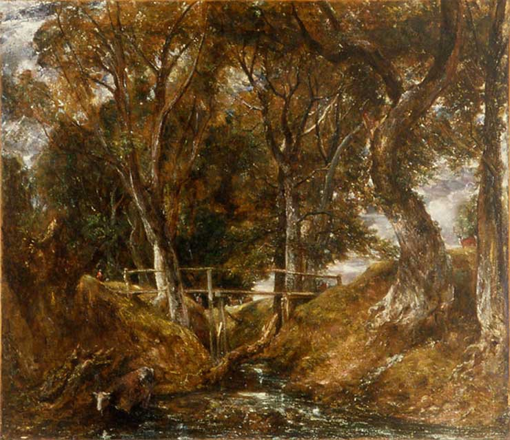 Constable, dell at helmingham park, landscape painting