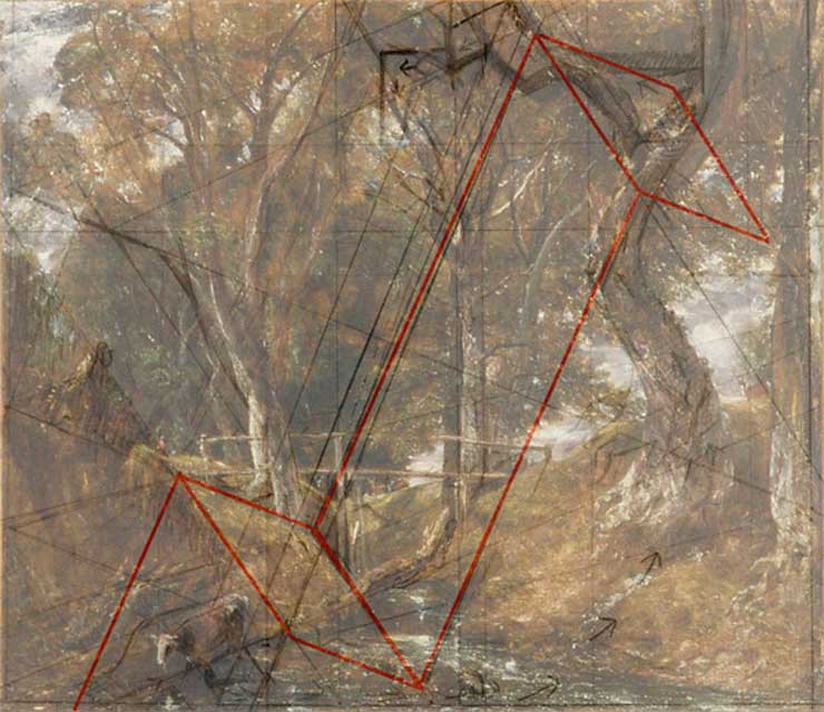 Constable, geometry in art, reversing planes
