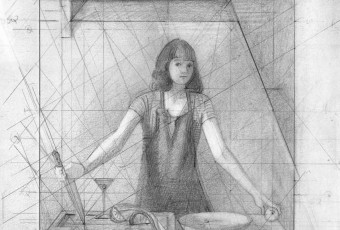 Figure Drawing, composition study, geometry and art