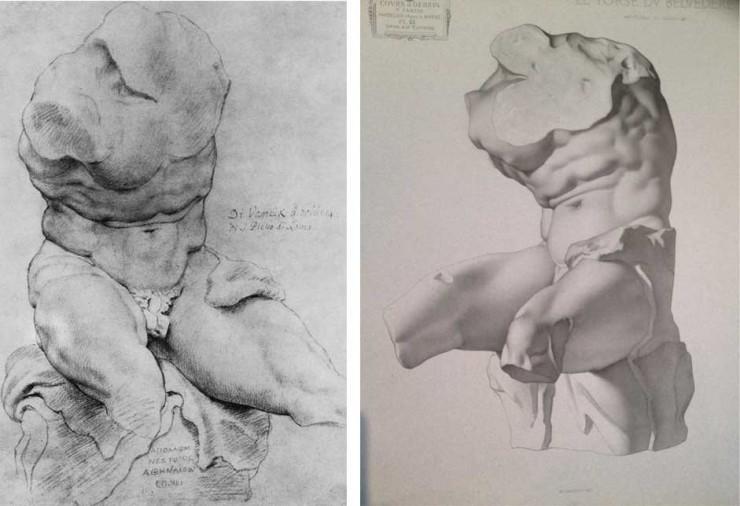 Belvedere Torso Rubens/Bargue